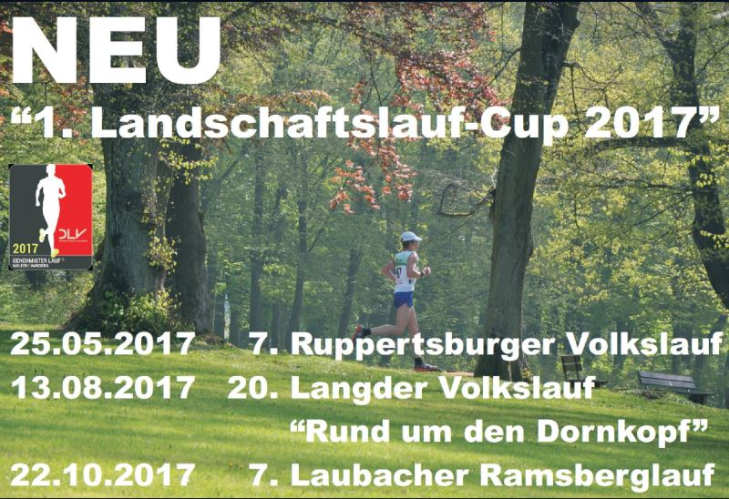 1. Landschaftslauf-Cup bekannt gegeben